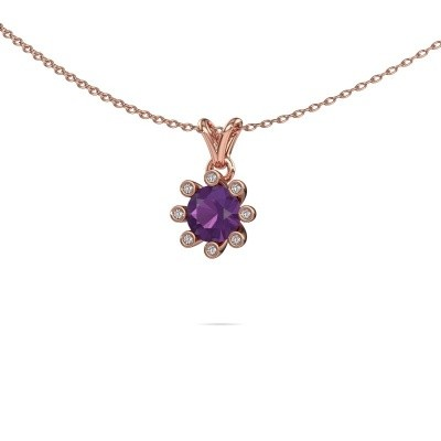 Picture of Pendant Carola 3 585 rose gold amethyst 6 mm