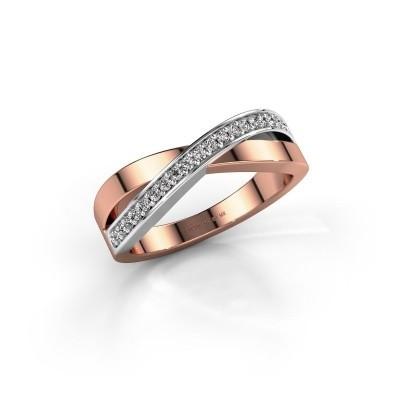 Foto van Ring Kaley 585 rosé goud diamant 0.143 crt