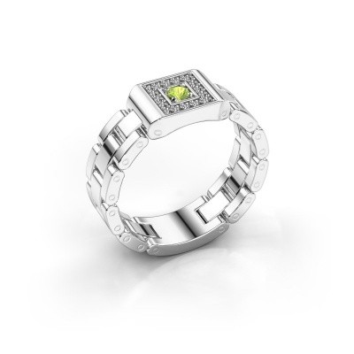 Foto van Rolex stijl ring Giel 950 platina peridoot 2.7 mm