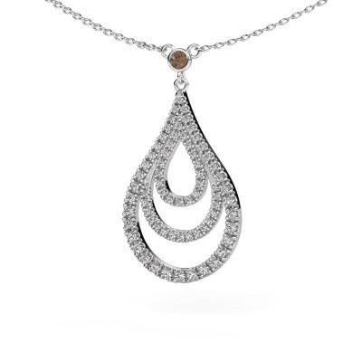 Picture of Pendant Delpha 585 white gold brown diamond 0.487 crt