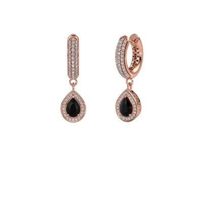 Bild von Ohrhänger Barbar 2 375 Roségold Schwarz Diamant 1.485 crt