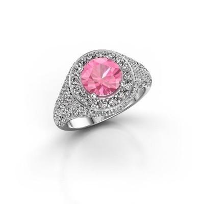 Foto van Ring Dayle 585 witgoud roze saffier 7 mm