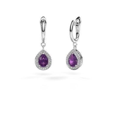 Picture of Drop earrings Ginger 1 950 platinum amethyst 7x5 mm