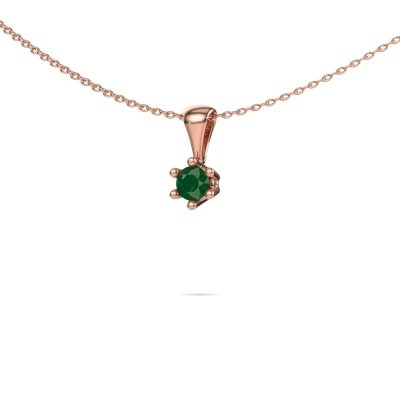 Picture of Necklace Fay 585 rose gold emerald 4 mm