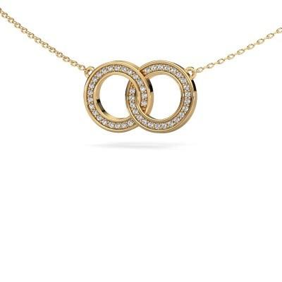Bild von Kette Circles 1 585 Gold Diamant 0.23 crt