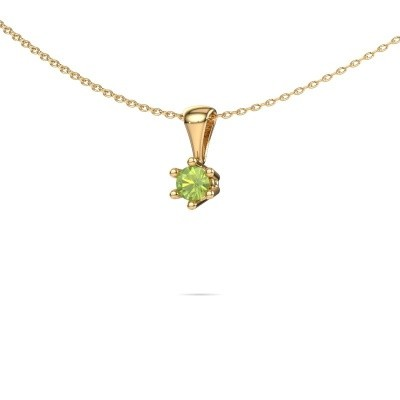 Picture of Necklace Fay 375 gold peridot 4 mm