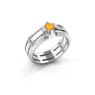 Foto van Heren ring Sem 950 platina citrien 4.7 mm
