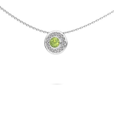 Picture of Necklace Gretta 925 silver peridot 4 mm