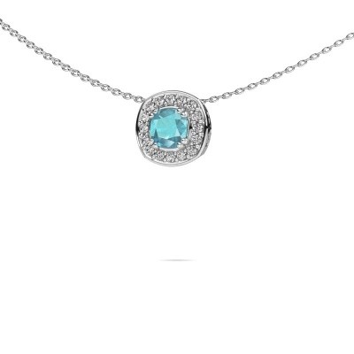 Picture of Necklace Carolina 925 silver blue topaz 5 mm