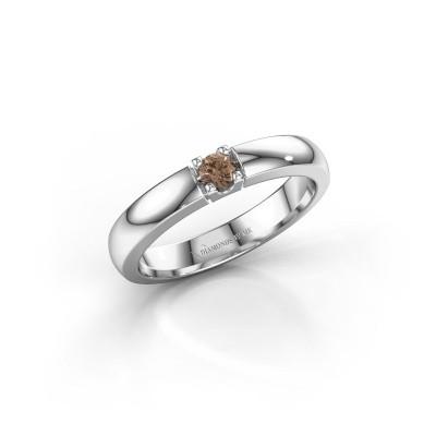 Foto van Verlovingsring Rianne 1 925 zilver bruine diamant 0.10 crt