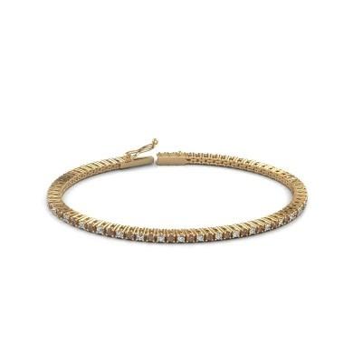 Foto van Tennisarmband Simone 375 goud bruine diamant 2.16 crt