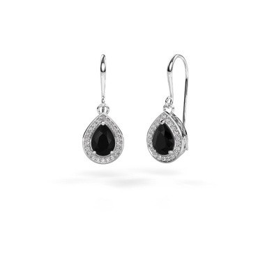 Picture of Drop earrings Beverlee 1 585 white gold black diamond 1.67 crt