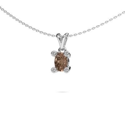 Picture of Necklace Cornelia Oval 950 platinum brown diamond 0.82 crt