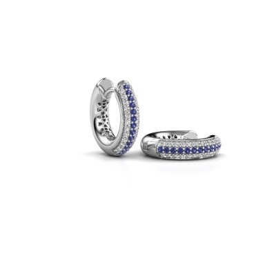 Picture of Hoop earrings Tristan B 14 mm 950 platinum sapphire 1 mm