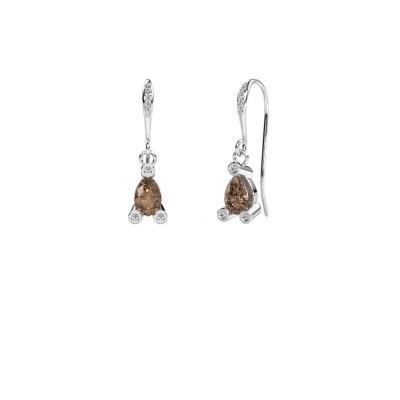 Foto van Oorhangers Bunny 2 950 platina bruine diamant 1.375 crt