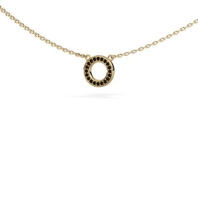 Bild von Anhänger Round 2 585 Gold Schwarz Diamant 0.06 crt