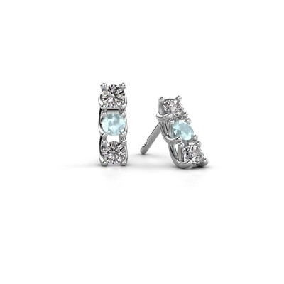 Picture of Earrings Fenna 925 silver aquamarine 3 mm