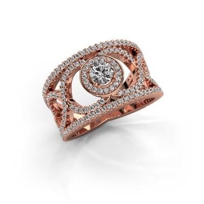Foto van Ring Regina 375 rosé goud diamant 1.25 crt