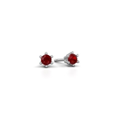 Picture of Earrings Fay 585 white gold ruby 3.4 mm