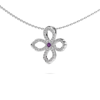 Picture of Necklace Chelsea 925 silver amethyst 2 mm