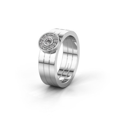 Trouwring WH2102L 585 witgoud diamant ±6x1.8 mm