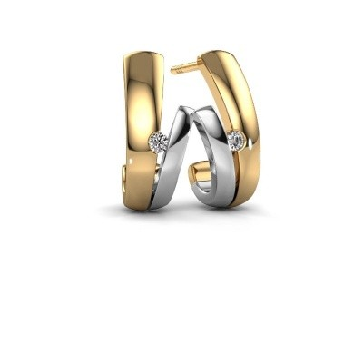 Oorbellen Shela 585 goud diamant 0.06 crt