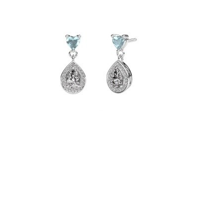 Picture of Drop earrings Susannah 585 white gold zirconia 6x4 mm