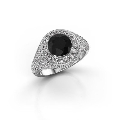 Picture of Ring Dayle 585 white gold black diamond 2.723 crt