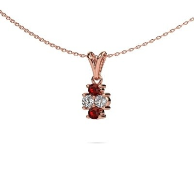 Picture of Necklace Richelle 585 rose gold garnet 3 mm