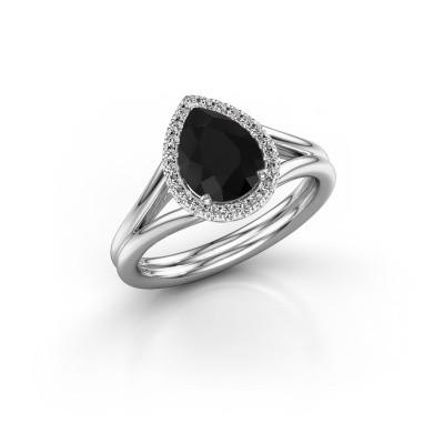 Bild von Verlobungsring Elenore 585 Weissgold Schwarz Diamant 1.287 crt