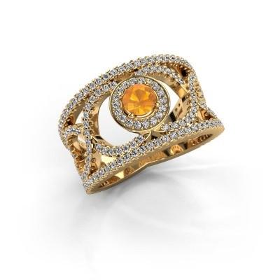 Foto van Ring Regina 585 goud citrien 4.2 mm