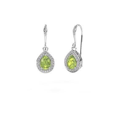 Picture of Drop earrings Beverlee 2 950 platinum peridot 7x5 mm