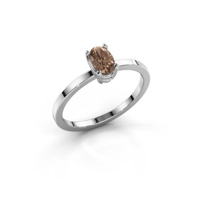 Foto van Ring Lynelle 1 585 witgoud bruine diamant 0.50 crt