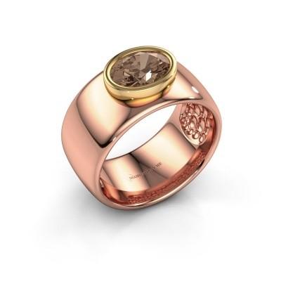 Foto van Ring Anouschka 585 rosé goud bruine diamant 1.15 crt