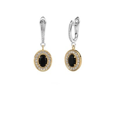 Picture of Drop earrings Layne 2 585 gold black diamond 2.31 crt