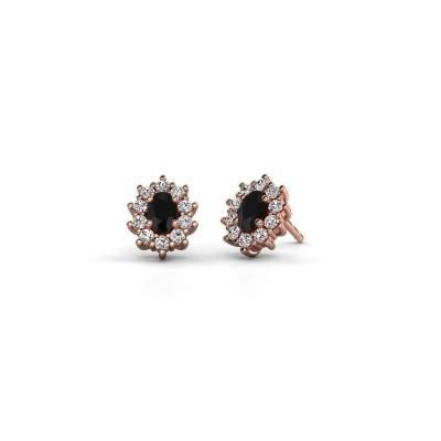 Bild von Ohrringe Leesa 375 Roségold Schwarz Diamant 1.800 crt