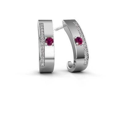 Picture of Earrings Vick1 925 silver rhodolite 2.4 mm