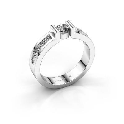 Verlovingsring Isabel 2 585 witgoud diamant 0.45 crt