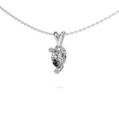 Foto van Ketting Cornelia Pear 950 platina diamant 0.67 crt