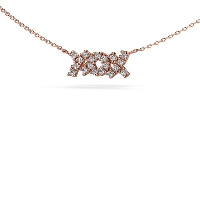 Picture of Necklace XoX 375 rose gold zirconia 1.5 mm