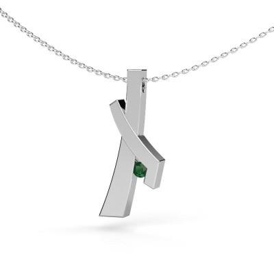 Picture of Pendant Alyssa 925 silver emerald 2.7 mm