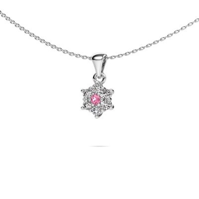 Picture of Necklace Chantal 950 platinum pink sapphire 2.4 mm