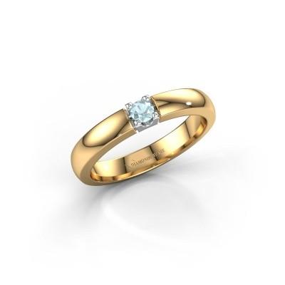 Foto van Verlovingsring Rianne 1 585 goud aquamarijn 3 mm