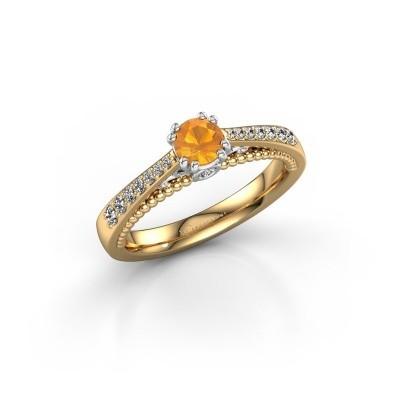 Foto van Verlovingsring Rozella 585 goud citrien 4.2 mm