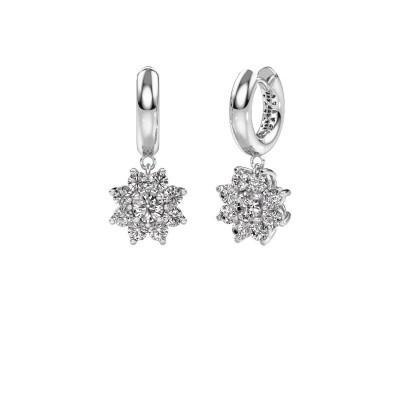 Picture of Drop earrings Geneva 1 950 platinum zirconia 4.5 mm