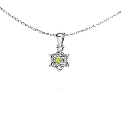 Picture of Necklace Chantal 925 silver peridot 2.4 mm