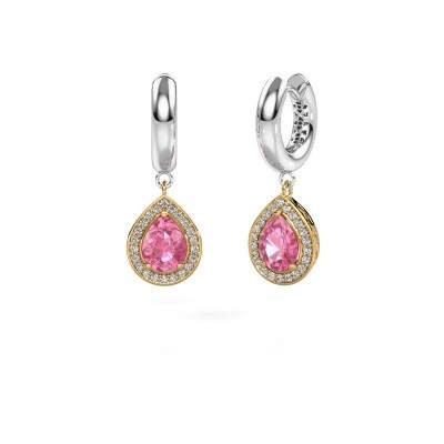 Picture of Drop earrings Barbar 1 585 gold pink sapphire 8x6 mm