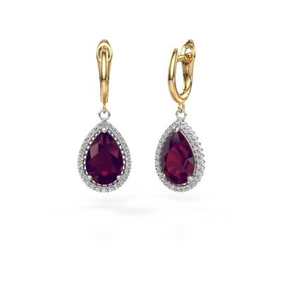 Picture of Drop earrings Hana 1 585 white gold rhodolite 12x8 mm