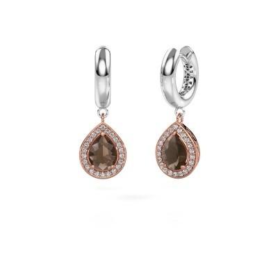 Picture of Drop earrings Barbar 1 585 rose gold smokey quartz 8x6 mm