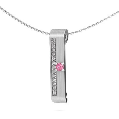 Picture of Necklace Vicki 950 platinum pink sapphire 3 mm